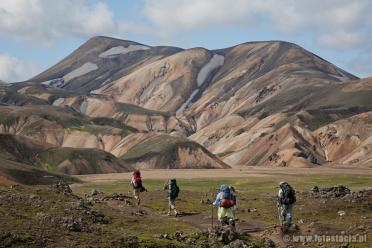 Tourists in Landmannalaugar
